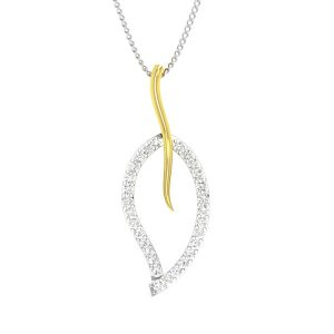 Classic Diamonds | PAGINA-1 pendant | 14 Kt White Gold