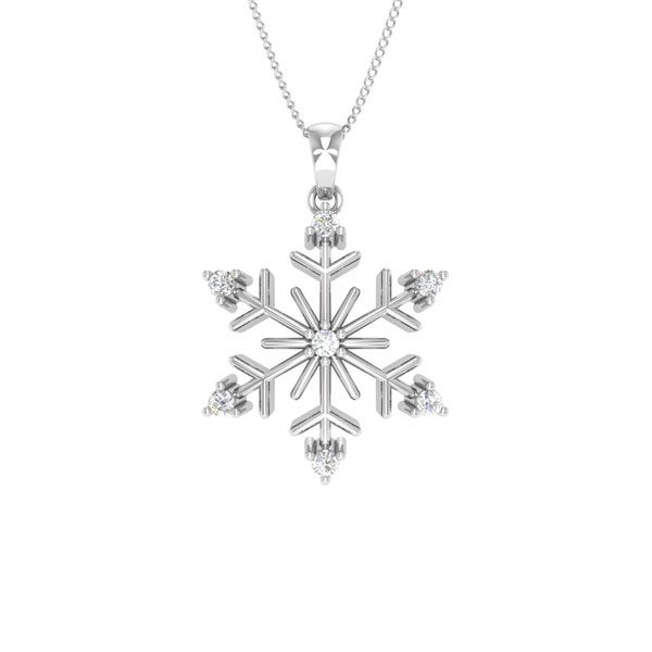 GABONE | 14kt White Gold | White Diamonds Classic Pendant