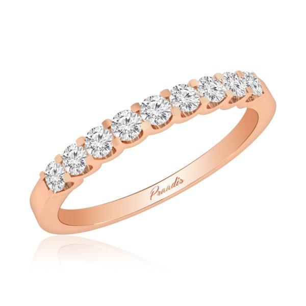 Diamond Band Rings | CARDINAL | 14 Kt Rose Gold |