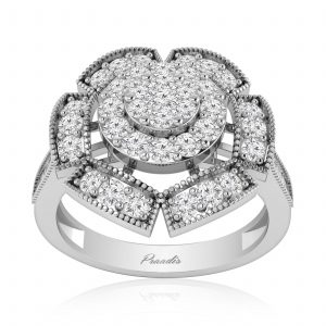 Cluster Diamonds Ring | FLORET | White Gold & White Diamonds