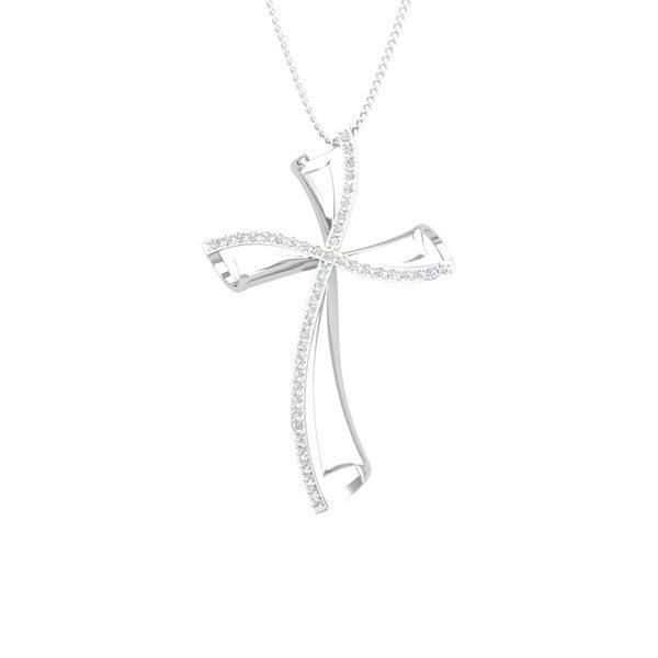 Diamond Cross Pendant | DIVINE CROSS | White Diamonds Pendant