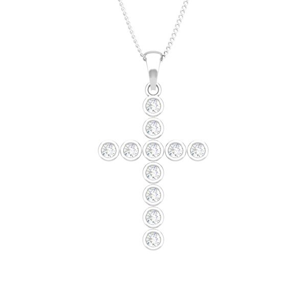 Religious Pendants | EVERLASTING CROSS | White Diamonds