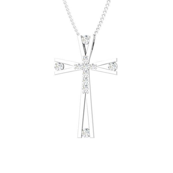 Cross Pendants | FOREVER CROSS | 14 Kt White Gold Diamonds