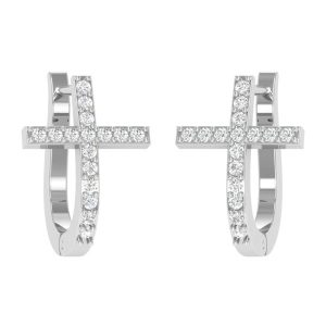 HAVE FAITH EARRINGS | 14 Kt White Gold | Diamond Earings