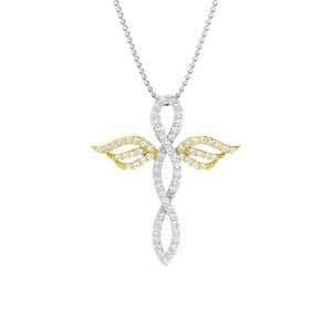 Cross Diamond Pendants | ANGELUS CROSS | 14 kt White