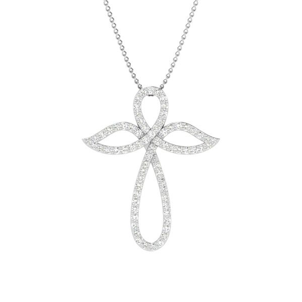 Cross Pendants | FLY WITH ME CROSS | 14 Kt White Gold