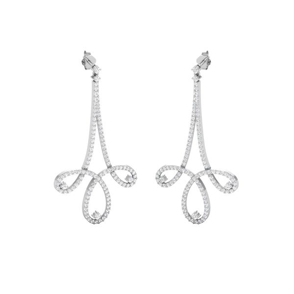 Cocktail Diamond Drops | CELEBRITY DROPS | 14kt White Gold