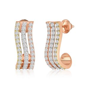 White Diamonds Earring | VERA | 14kt Rose Gold | Praadis