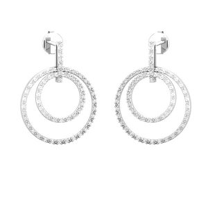 Circle Crazy Drops | 14 Kt White Gold | White diamond Drops