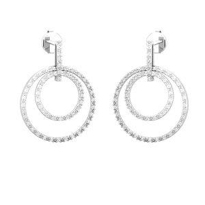 Circle Crazy Drops | 14 Kt White Gold | White diamond Drops