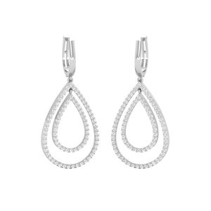 Cocktail Earrings | EVER ROYAL EARRINGS | 14 Kt White Gold