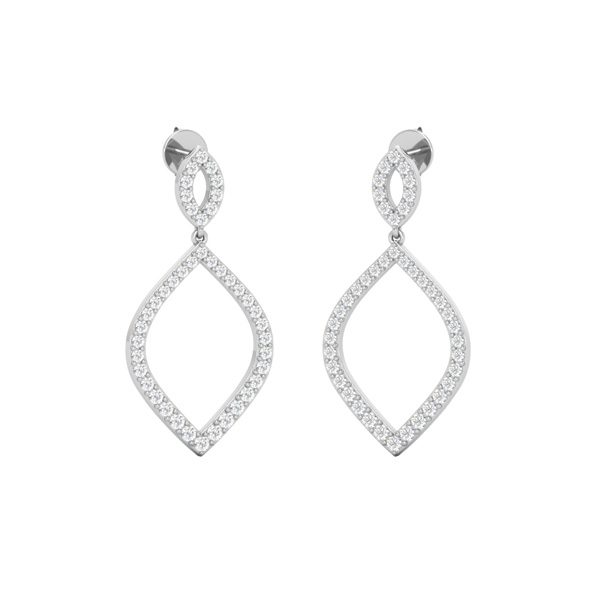 Gold Drops Dangles | GLAM ERA DROPS | White Diamonds