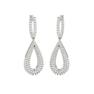 Cocktail Drops Dangles | ROCK THE GLAM DROPS | 14Kt White Gold
