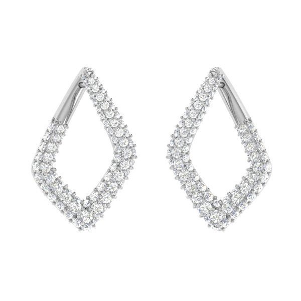 Sparkle Bloom Earrings | 14kt White Gold | White Diamonds