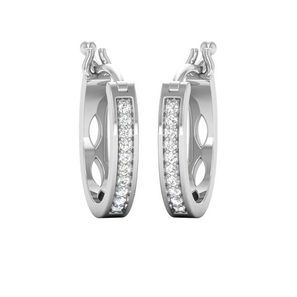 White Gold Hoops | COOL HOOPS | White Diamond Hoops