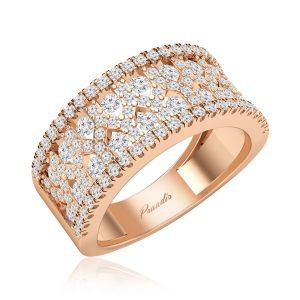 Diamond Cocktail Ring | JAYLIN | 14kt Rose Gold | Praadis