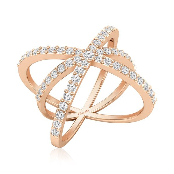AMINAH COCKTAIL RING | 14 Kt Rose Gold | Praadis