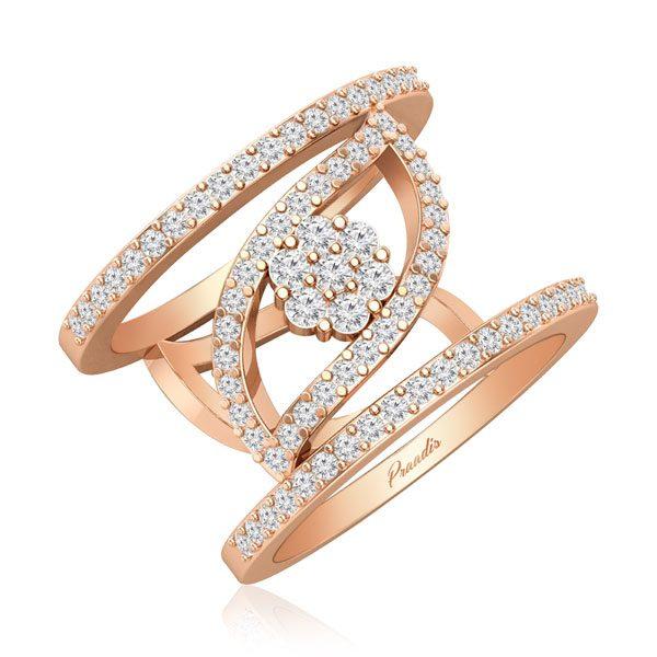 Diamond Cocktail Rings | AMYA | 14kt Rose Gold Ring