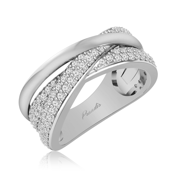 ALINA | 14 Kt White Gold | Cocktail Diamond Ring |Praadis Luxury Division