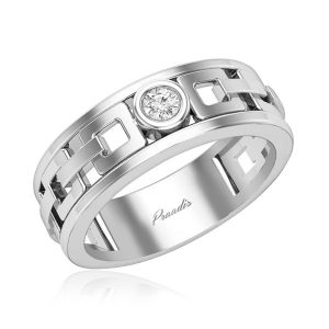 Mens Diamond Ring | JESS (WHITE GOLD) | 14kt White Gold