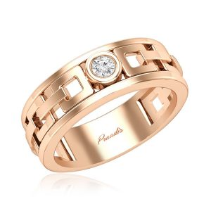 Jess Mens Diamond Ring | 14kt Rose Gold | White Diamonds Ring