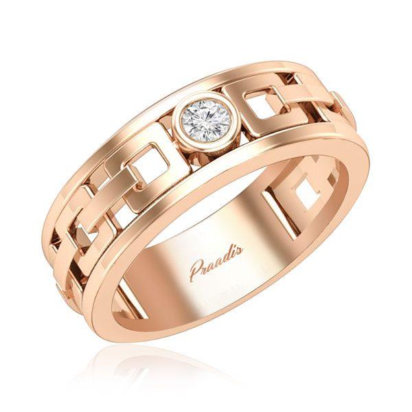 Mens Diamond Rings | ASHER (ROSE GOLD) | 14kt Rose Gold