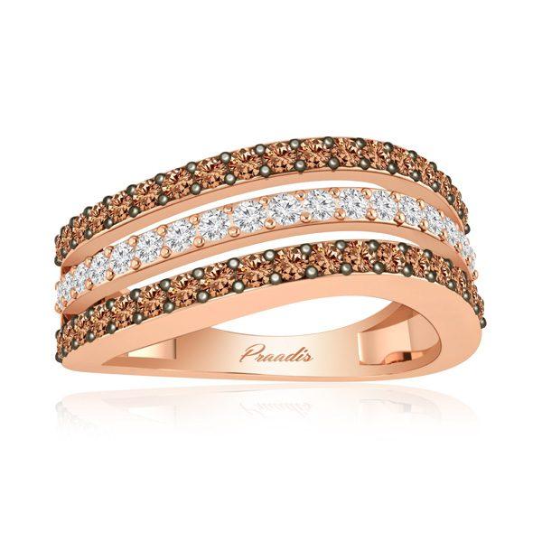 White Diamonds Ring | ARISTOCRACTIC | 14 Kt Rose Gold