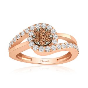 Spiral Diamond Ring | 14kt Rose Gold | Cluster Diamond Ring