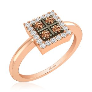 Rings | ZEAL Diamond Ring | 14 Kt Rose Gold | Praadis