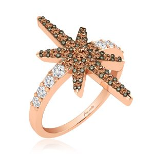 ZAIRA COCKTAIL RING | 14Kt Rose Gold | Praadis