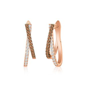 Cocktail Diamond Earrings | ENIGMA | 14 Kt Rose Gold