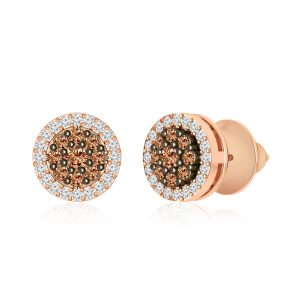 Brown Diamond Stud | PARIYAT | Brown White Diamonds Studs
