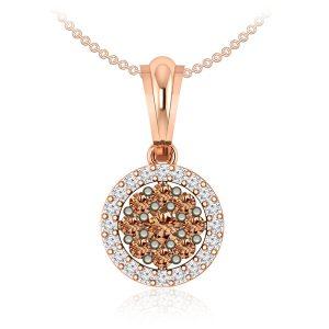 GLISTENING | 14 Kt Rose Gold Diamond Pendant | Glistening Pendent