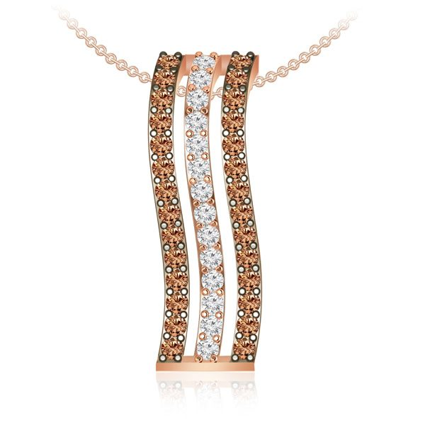 Cocktail Diamond Pendant | SWAY | 14Kt Rose Gold