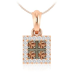 Brown diamonds Pendant | SABITA | 14 Kt Rose Gold