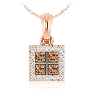 Brown diamonds Pendant | SABITA | 14 Kt Rose Gold
