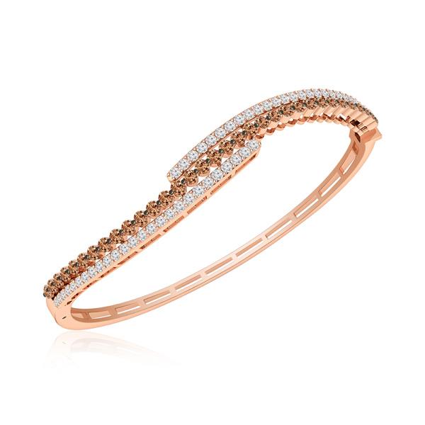 e0f5aace2c4d3b BLISS, 14 Kt Rose Gold, Classic Diamond Bangles & Bracelets ...