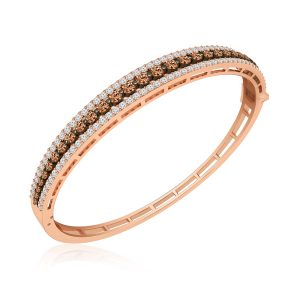 Classic Bangles Bracelets | FIONA | 14Kt Rose Gold Diamonds