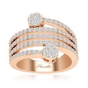 Glint Diamonds Ring | 14Kt Rose Gold | White Diamonds