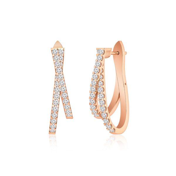 Cocktail Diamonds Earring   CREEPER   14Kt Rose Gold