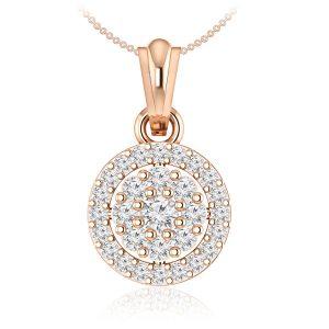 JUANA | 14 Kt Rose Gold | Cluster White Diamonds Pendant