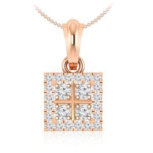 ILLENE | 14 Kt Rose Gold | Wide Range Gold Pendant | Praadis.com.