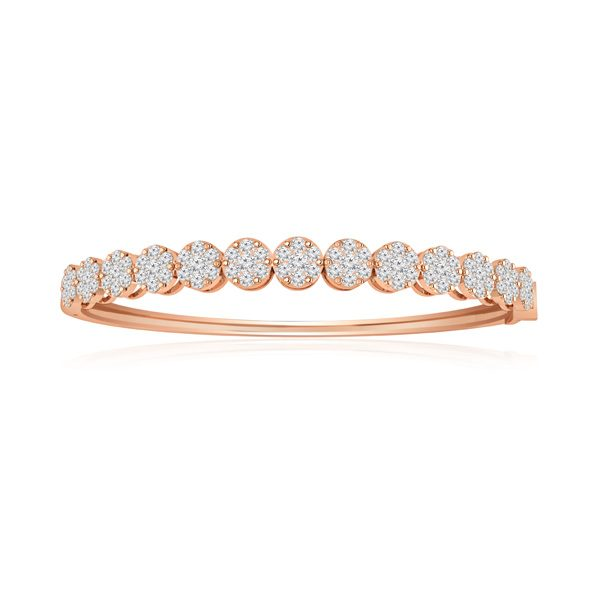 ATARA | 14kt Rose Gold Bracelet | White Diamonds Bracelet