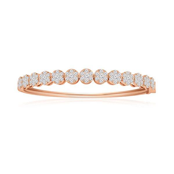ATARA | 14kt Rose Gold Bracelet | White Diamonds Bracelet