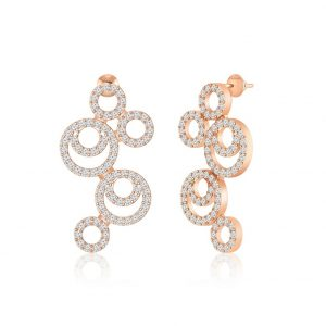 SYMMETRIC | Rose Gold Earring | Cocktail Earring