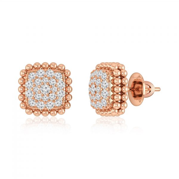 Stud Earrings | CELESTIAL | 14 Kt Rose Gold | White Diamonds