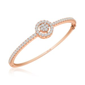 COSMIC | 14 Kt Rose Gold | Classic | Diamond Bangle