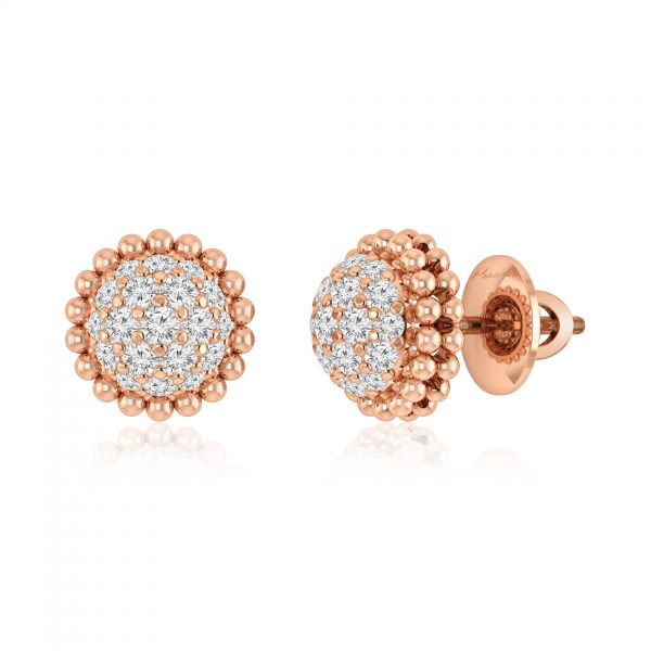 White diamond Studs | HARNI | 14kt White Diamond Studs