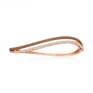 ELISHA | 14 Kt Rose Gold | Classic Diamond Bangle | Rose Gold Bangle