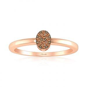 Cluster Rings | ANCHITA Diamond Ring | 14kt Rose Gold